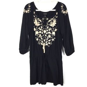 Lucky Brand Bohemian Floral Embroidered Tunic